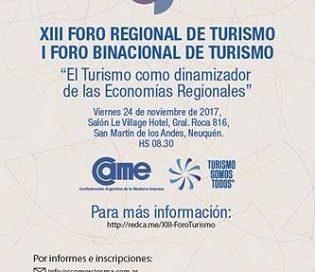 CAME ORGANIZA EL XIII FORO REGIONAL DE TURISMO-I FORO BINACIONAL DE TURISMO